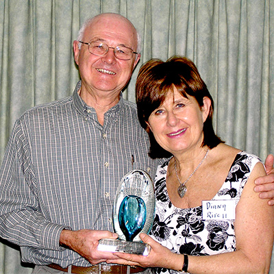 Michael Clarke receiving his award